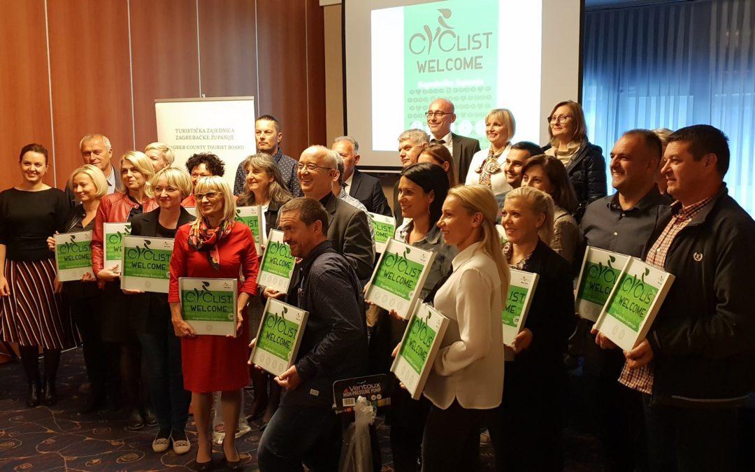 """Objektima Zagrebačke županije dodijeljene oznake posebnog standarda u cikloturizmu """"Cyclist Welcome"""""""