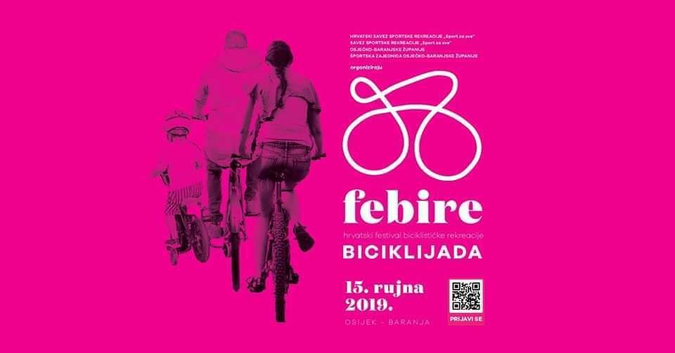 """Dođite na """"FeBiRe"""" – Festival biciklističke rekreacije u Osijek i Baranju, 13.-15. rujna 2019."""