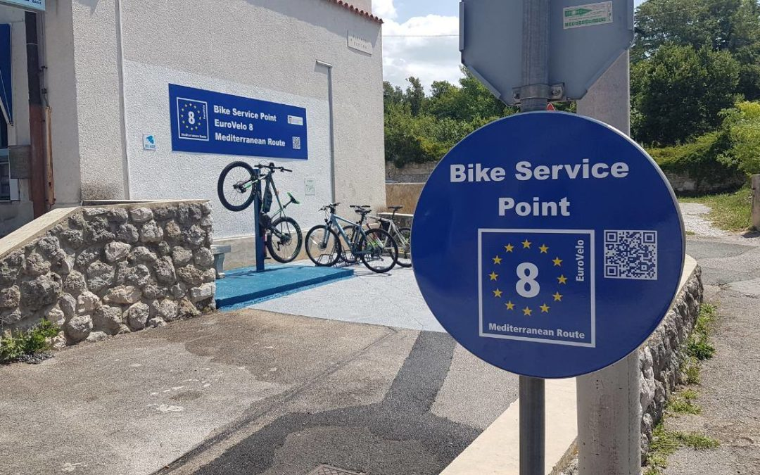 Nova biciklističko servisna točka na EuroVelo 8 u Kraljevici/ New bicycle service point at EuroVelo 8 in Kraljevica